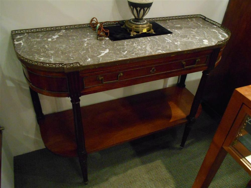 Pair of Louis XVI Marble-top Console Tables