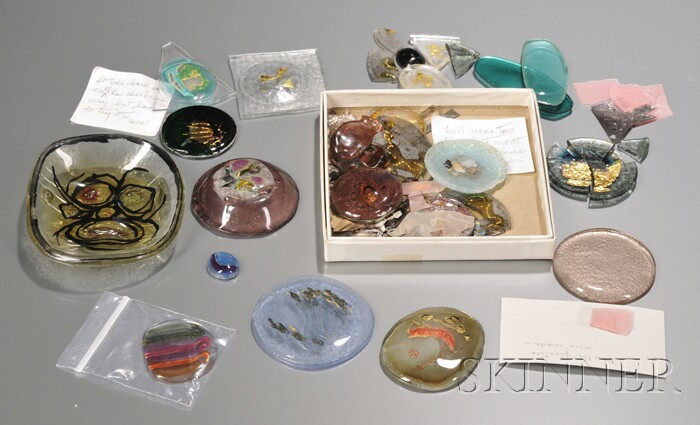 Twelve Margret Craver (1907-2010) Experimental Samples