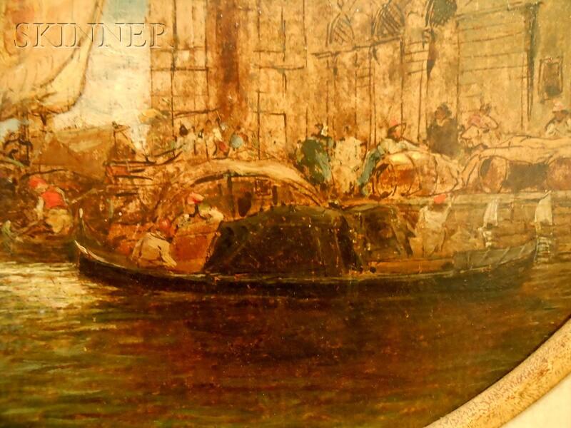 James Holland (British, 1799-1870)      The Dogana, Venice