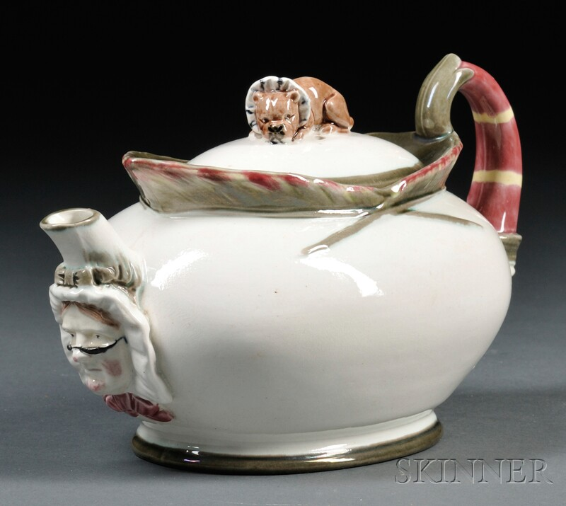 """Wedgwood Majolica """"Punch"""" Teapot and Cover"""