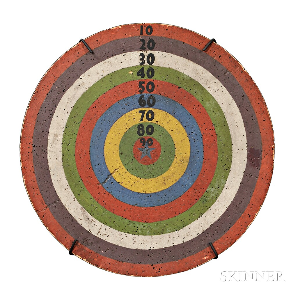 Painted Cork Bull's-eye Dartboard