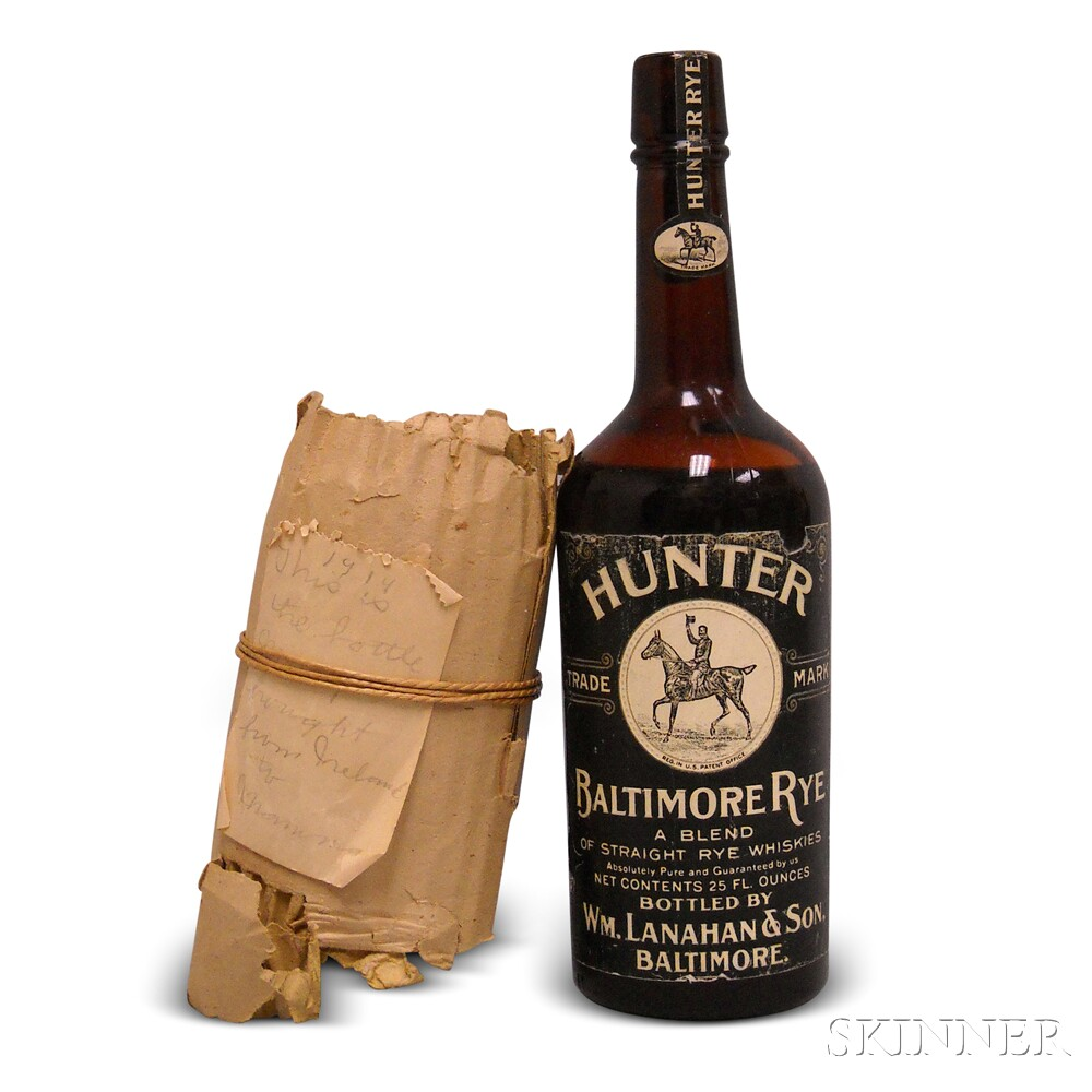 Hunter Baltimore Rye Whiskey, 1 25oz bottle
