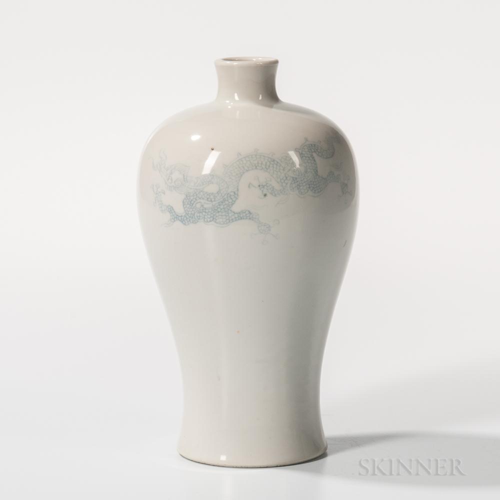 White Meiping   Vase