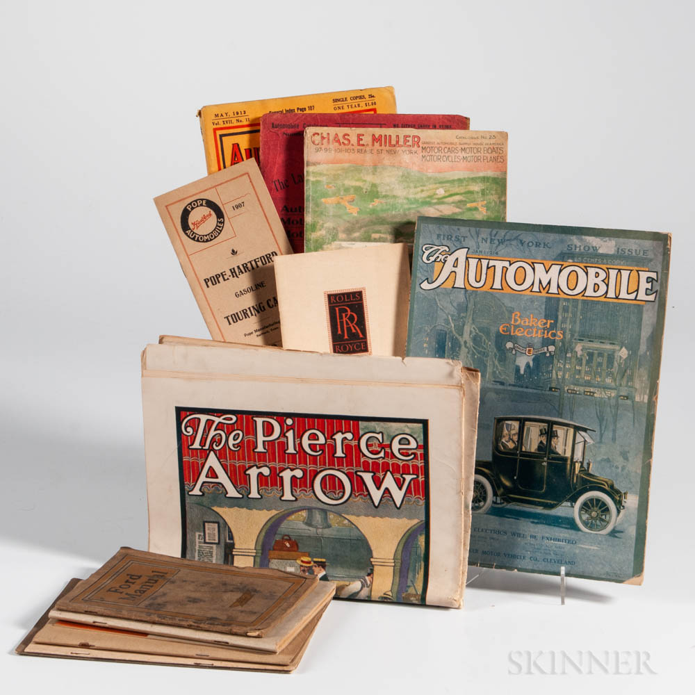 Automotive Ephemera Lot, Early 20th Century, Fourteen Publications.