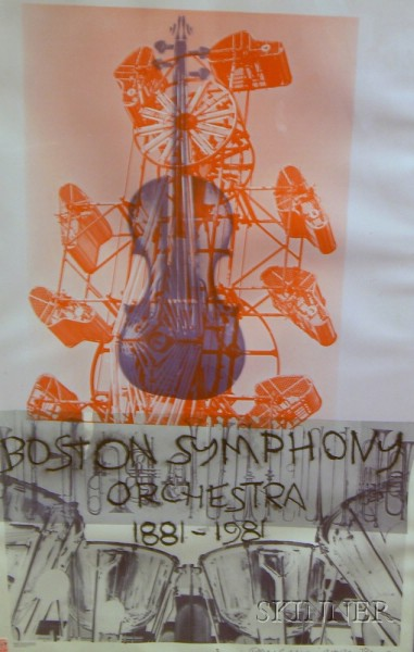 Framed Robert Rauschenberg Boston Symphony Orchestra Poster