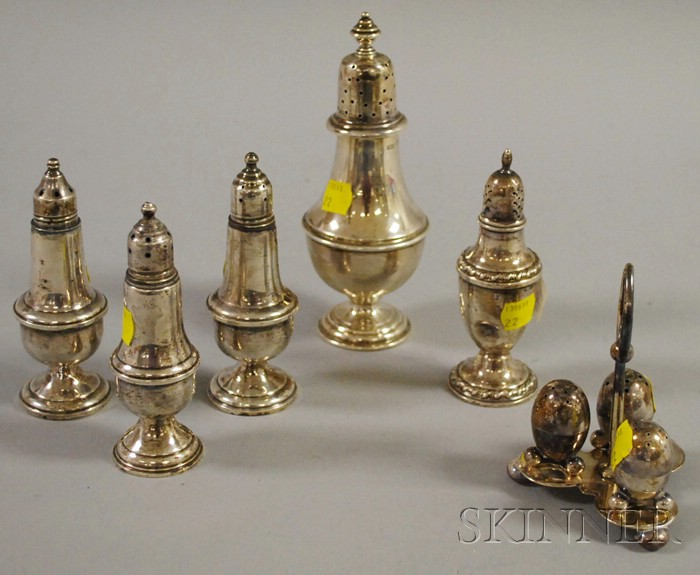 Group of Sterling, Silver-plated, and Weighted Casters.