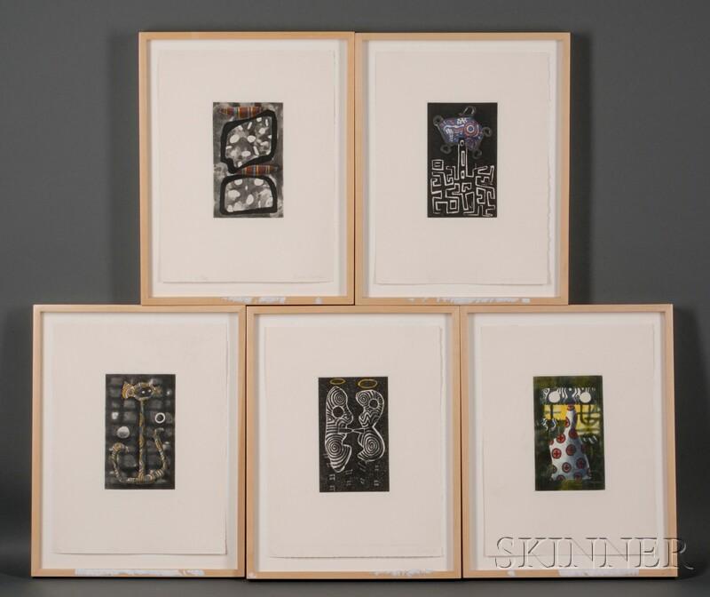 James Hansen (American, 1951-1997)      Five Works: V, VI, VII, VIII