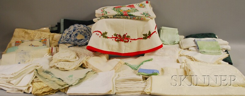 Large Collection of Bed and Table Linens and Lace