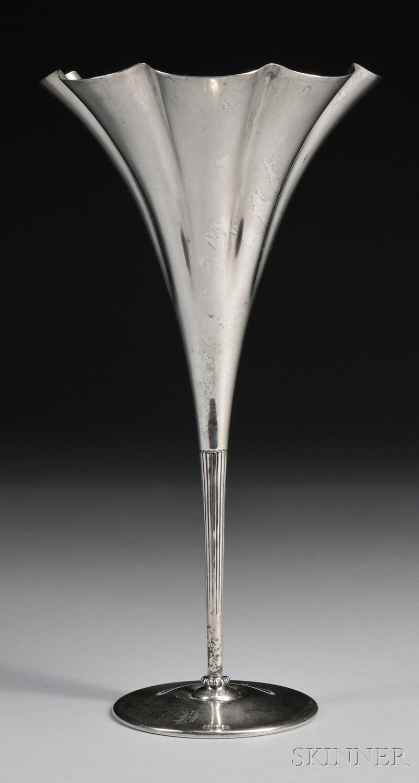 Tiffany & Co. Sterling Silver Trumpet Vase