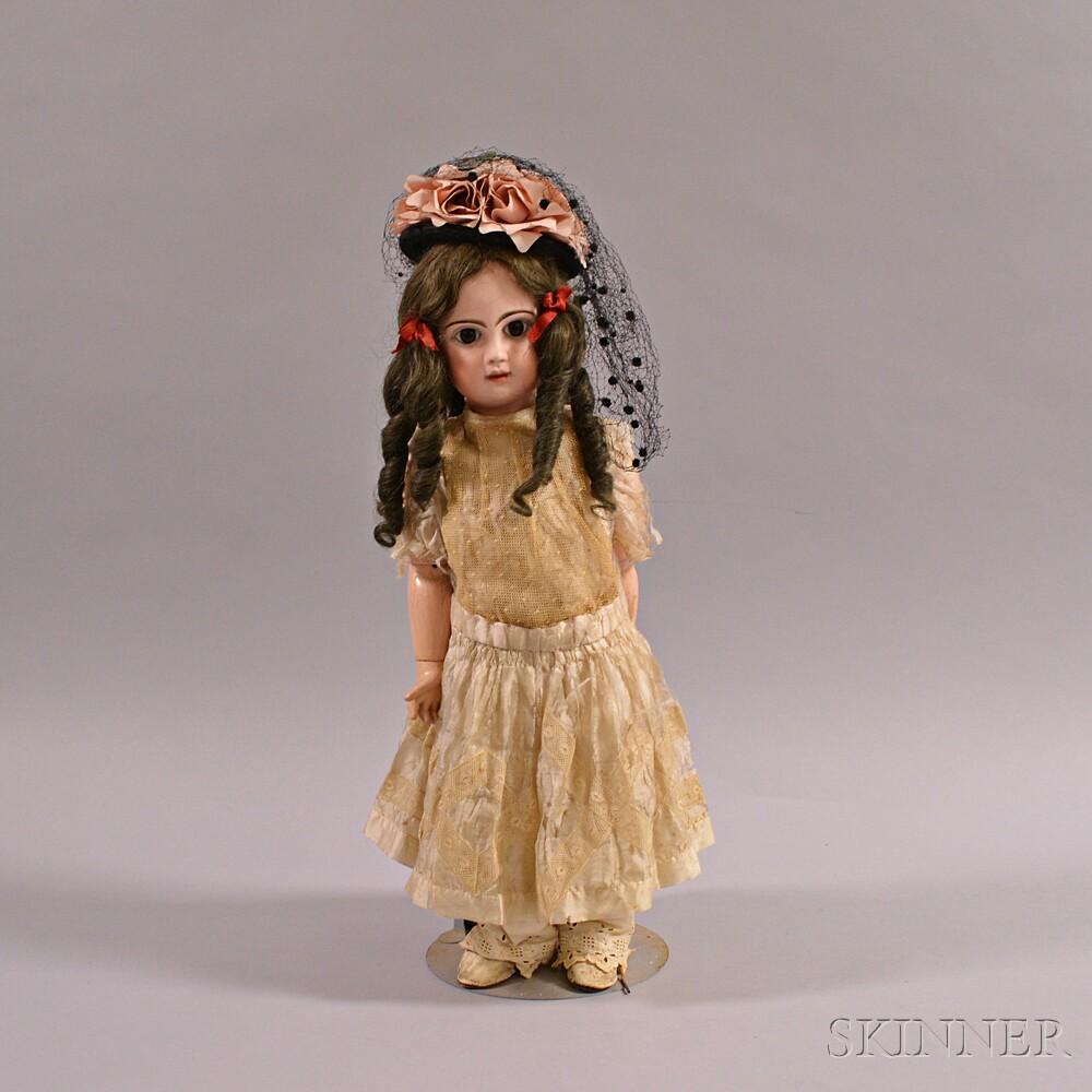 Bébé Jumeau Déposé Bisque Head Doll