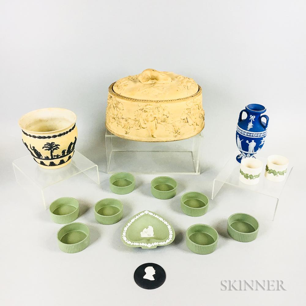 Fifteen Wedgwood Jasper Ceramic Items