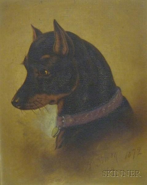 Victorian Walnut Framed Enhanced Dog Portrait Print The Drawing Room Pet