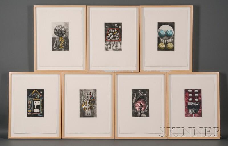 James Hansen (American, 1951-1997)      Seven Works: X, XI, XII, XIII, XIV, XV