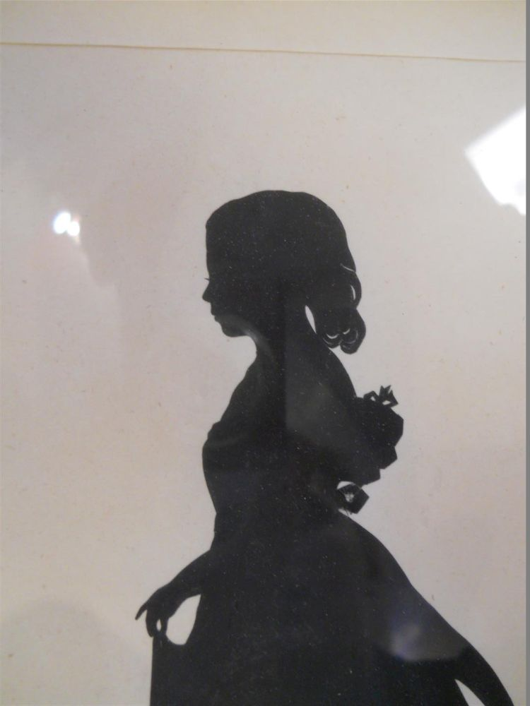 Full-length Hollow-cut Silhouette of a Scottish Girl