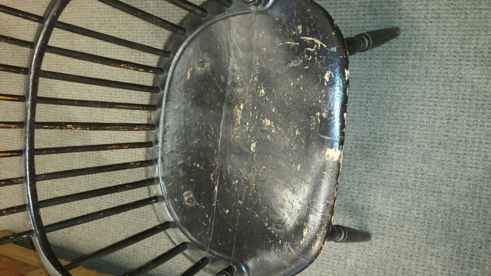 Black-painted Windsor Sack-back Chair