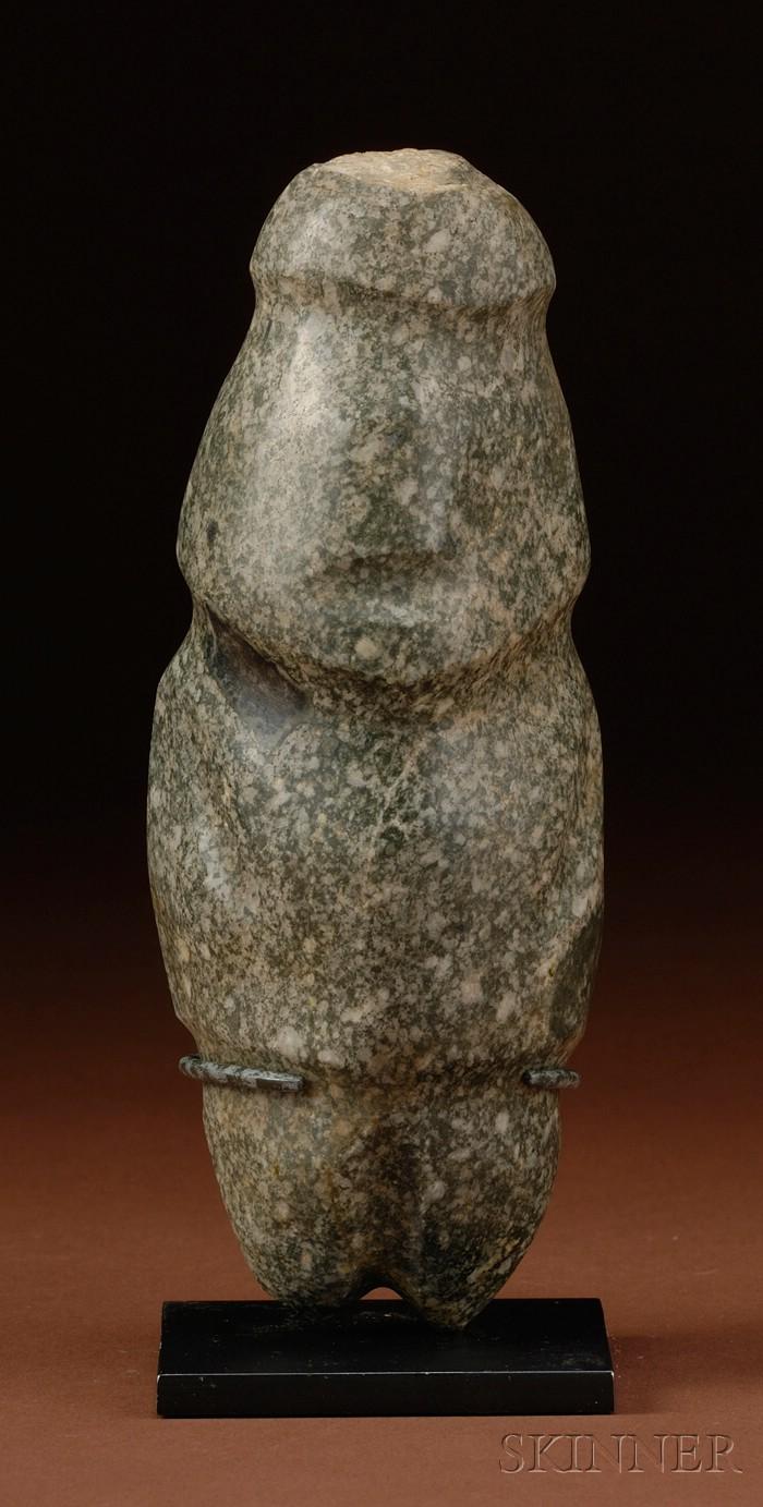 Pre-Columbian Carved Greenstone Figure