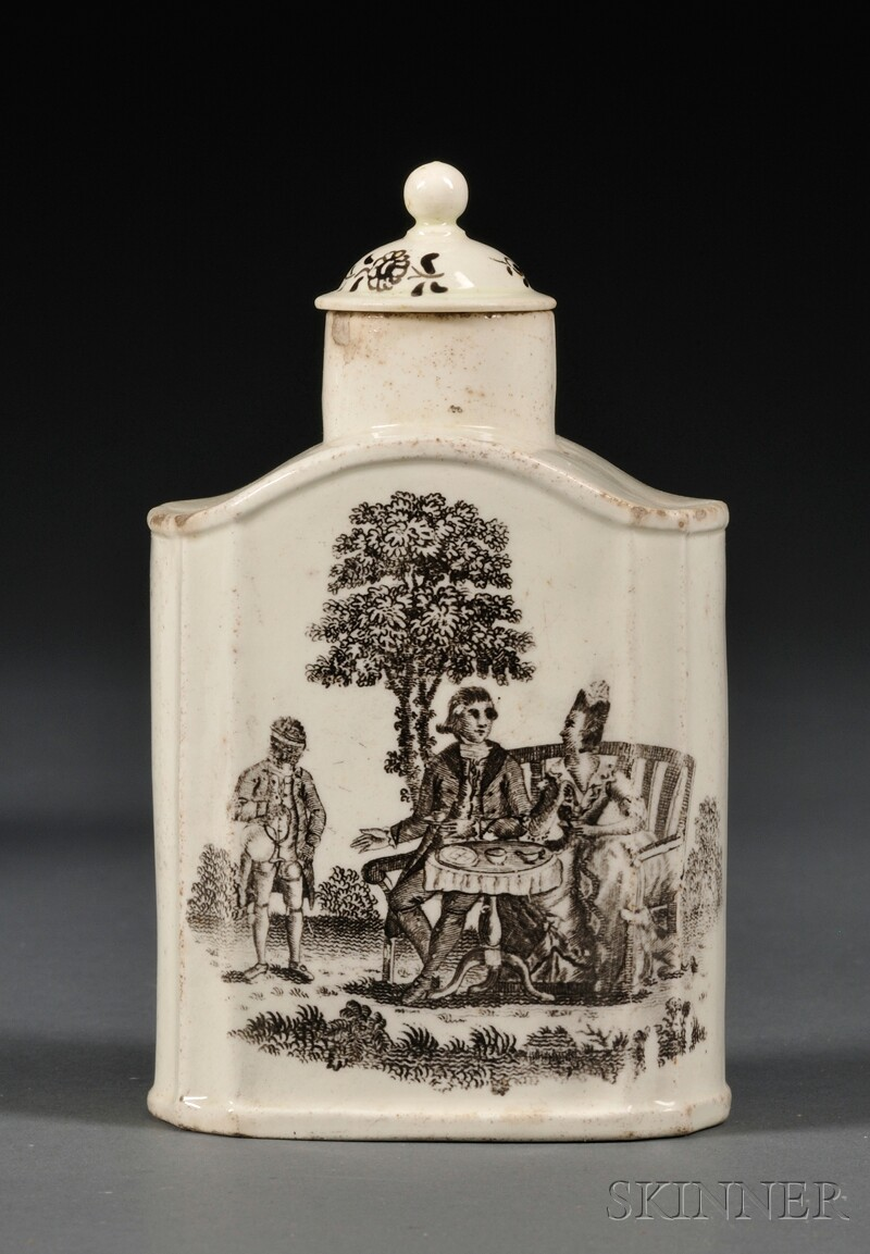 Wedgwood Queen's Ware Tea Canister with a Cover