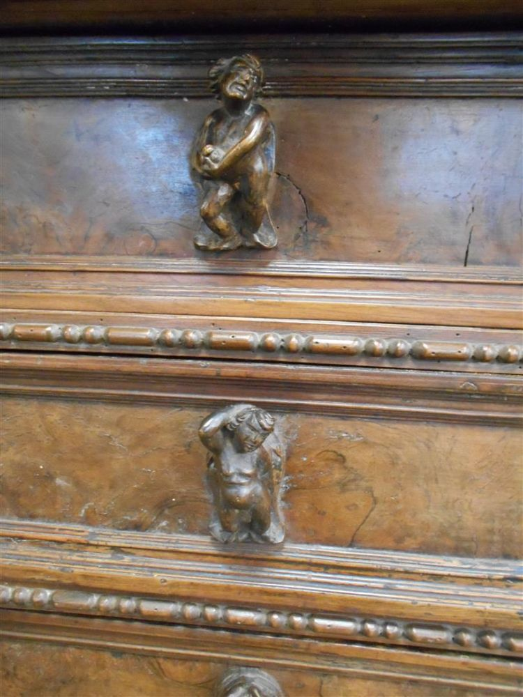 Italian Baroque-style Chest with Figural Mounts