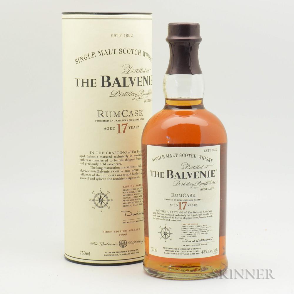 Balvenie Rum Cask 17 Years Old, 1 750ml bottle (ot)