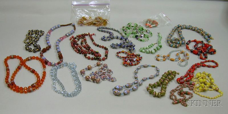 Lot of Assorted Glass Bead Necklaces.
