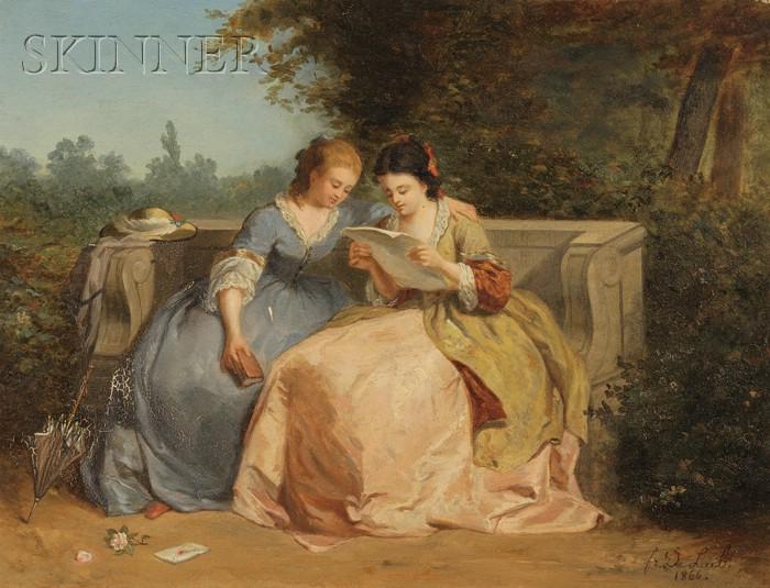 Fr. de Leub (Continental, 19th Century)      The Love Letter