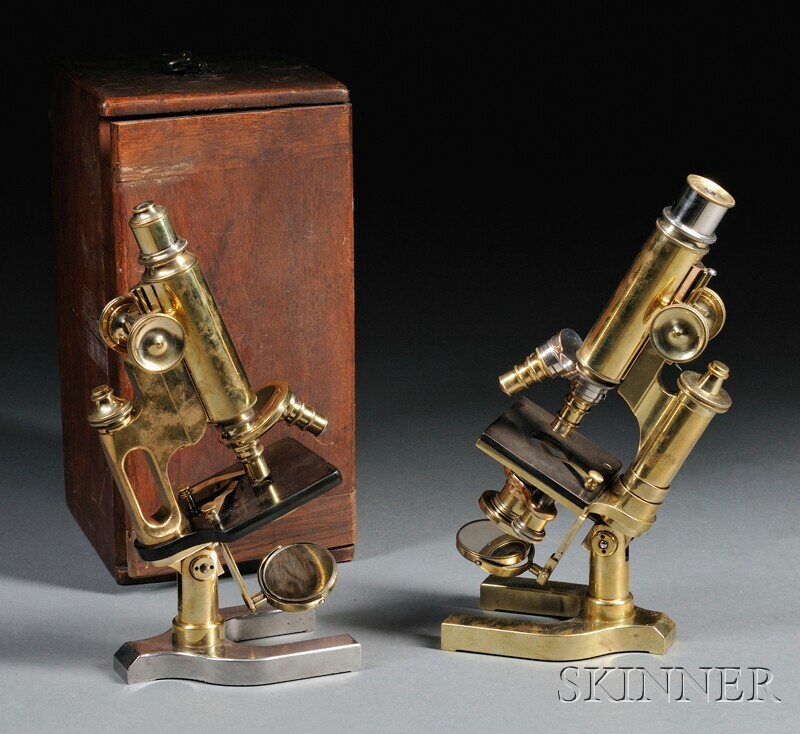 Two Spencer Brass Microscopes