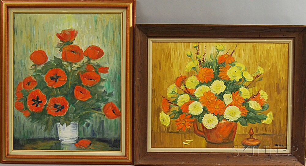 Richard Gordon Packer (American, 1916-1998)      Four Paintings:   Oriental Poppies