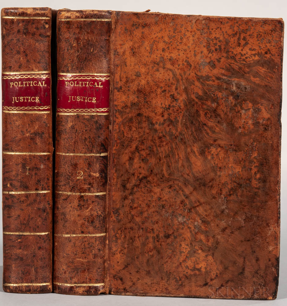 Godwin, William (1756-1836) Enquiry Concerning Political Justice, and its Influence on Morals and Happiness.