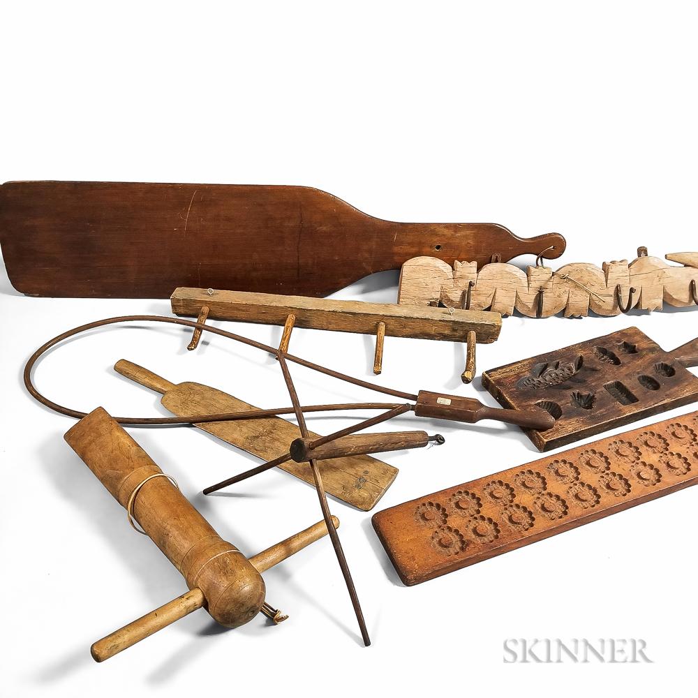 Nine Wood Domestic Items