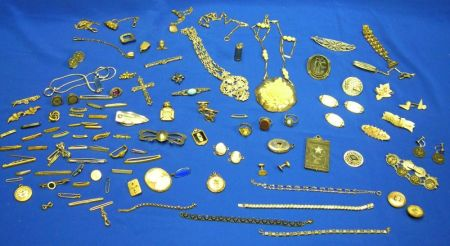 Miscellaneous Lot of Victorian to Modern Silver, Gold-filled and Costume Jewelry