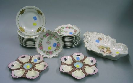 Twenty-six Pieces of Assorted Continental Porcelain TablewareTwenty-six...