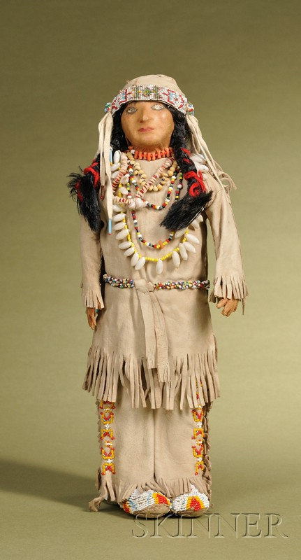 Leather Indian Doll