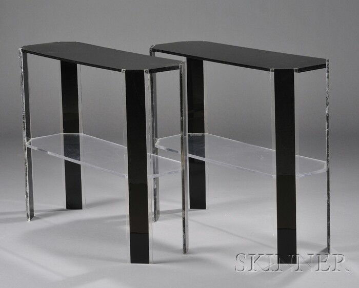Two Modernist Console Tables