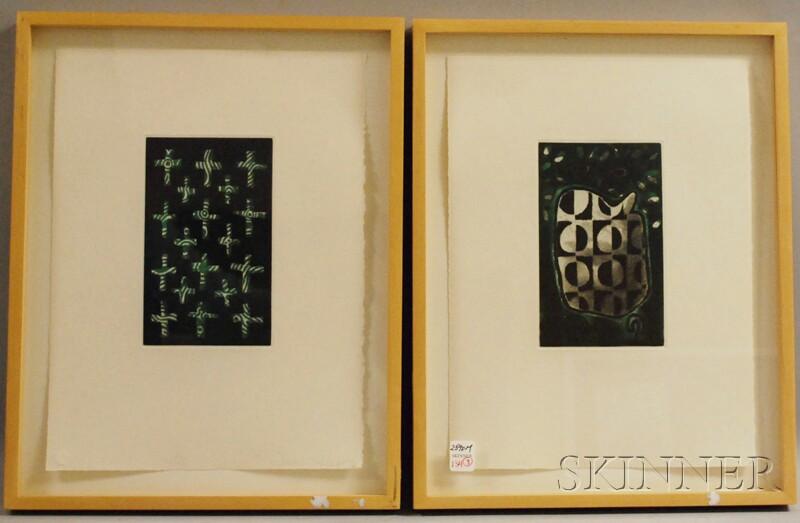 James Hansen (American, 1951-1997)      Three Compositions: XXXI, XXXII