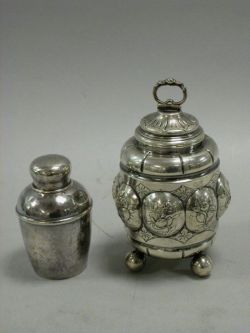 Two Sterling Silver Tea Caddies.