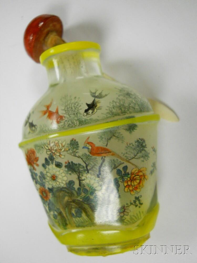 Two Peking Glass Snuff Bottles
