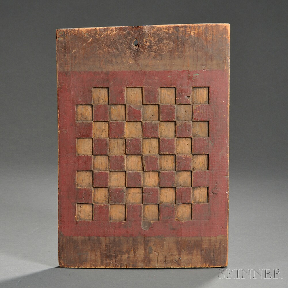 Red-painted Pine Checkerboard