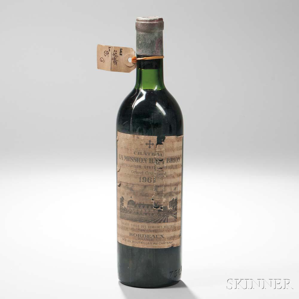Chateau La Mission Haut Brion 1961, 1 bottle