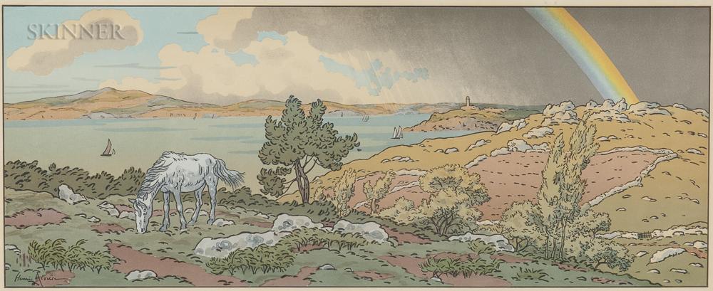 Henri Rivière (French, 1864-1951)      L'Arc-en-ciel