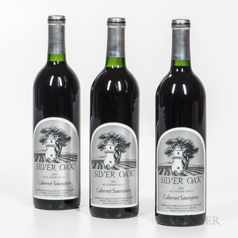 Silver Oak Cabernet Sauvignon Alexander Valley 1984, 3 bottles