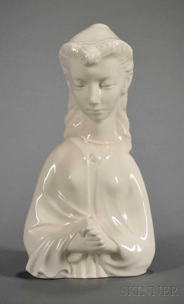 Wedgwood Queen's Ware Bust of Penelope