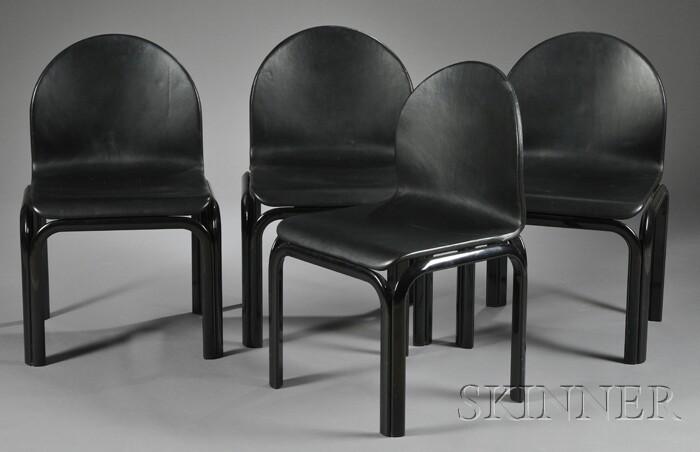 Four Gae Aulenti Side Chairs