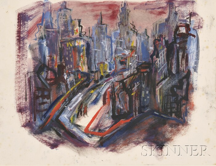 Marion Huse (American, 1896-1967)      Lot of Two Works: Restless City
