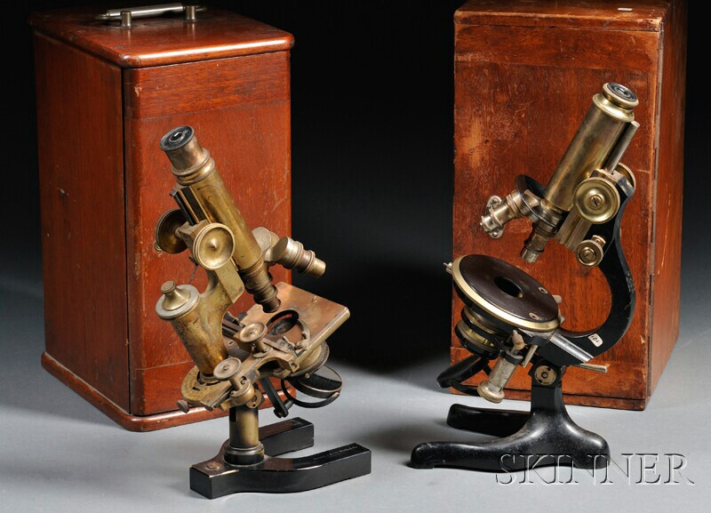 Two Brass Microscopes