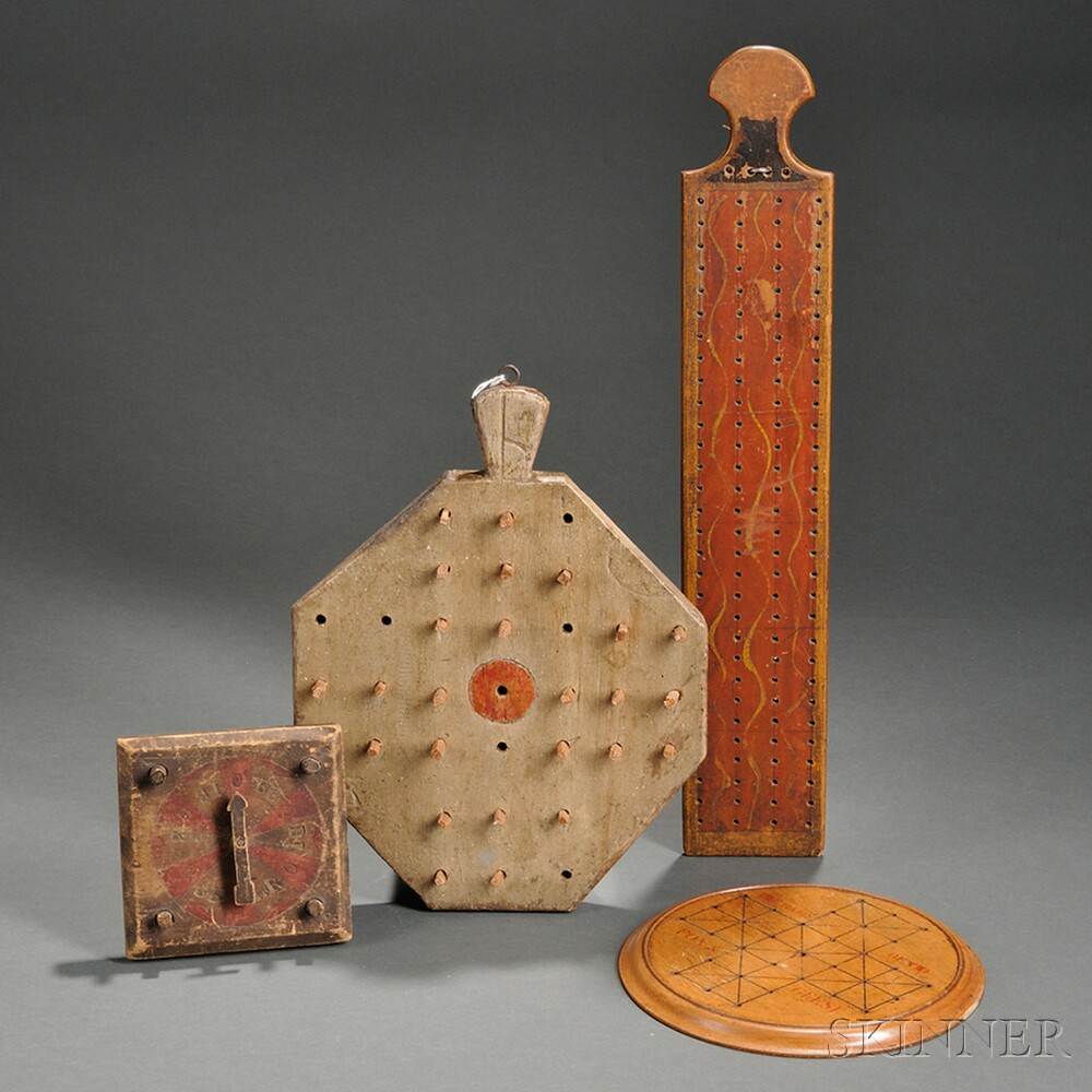 Five Wooden Game Boards