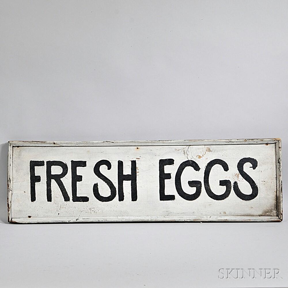 "Large ""FRESH EGGS"" Advertising Sign"
