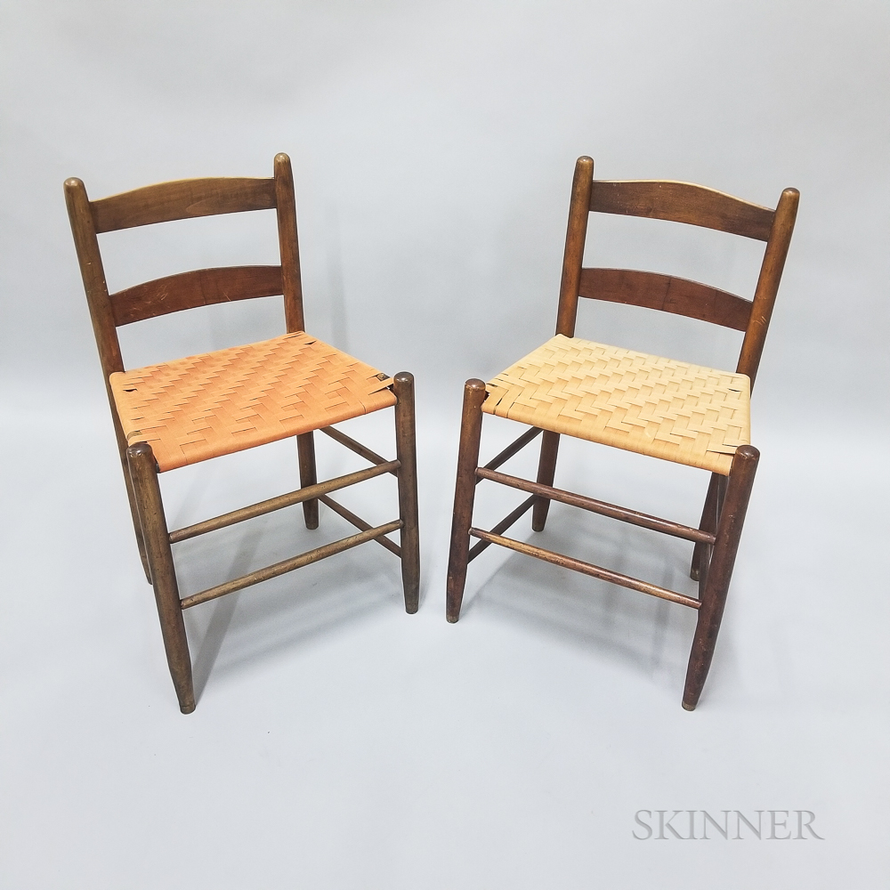 Two Shaker Maple Loom Chairs