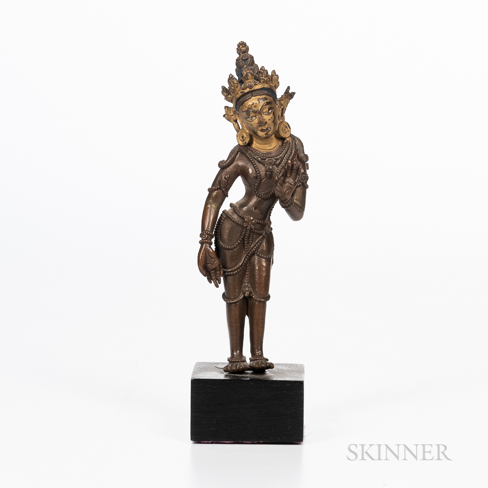 Parcel-gilt Copper Alloy Figure of Tara