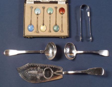 Group of English Silver Flatware