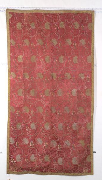 Silk and Metal Thread Brocade Textile